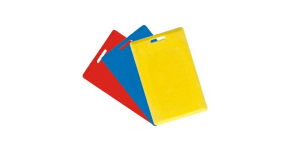 Colorful clamshell RFID cards