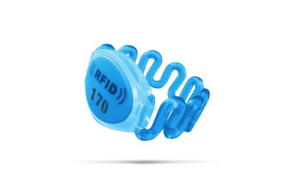Plastic RFID wristband
