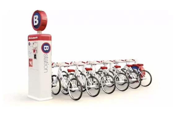 RFID enabled bike share station