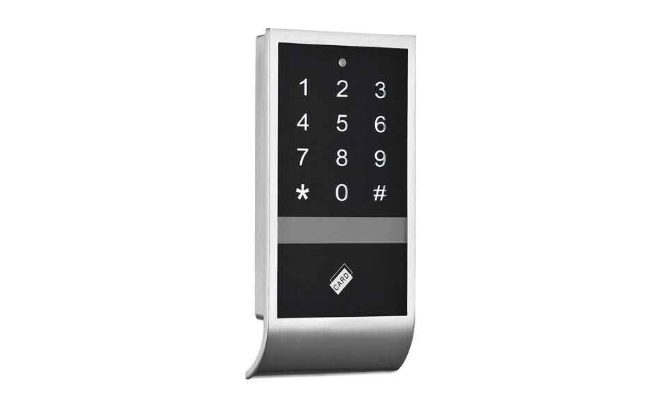 RFID cabinet lock with touch screen