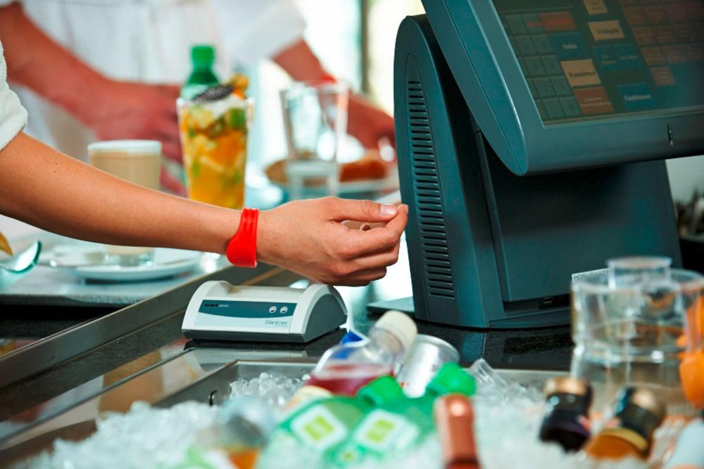 RFID wristband used for payment at a club or spa