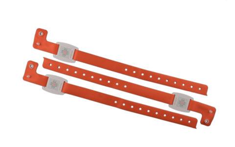 Adjustable PVC wristband with RFID tag