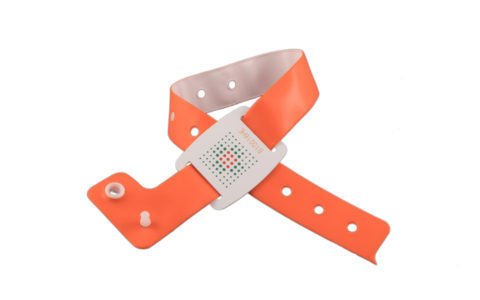 Adjustable PVC wristband with RFID tag